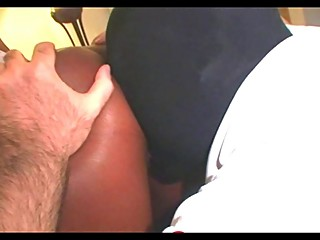 White Slave Cleans Black Cuckoldress Creampie
