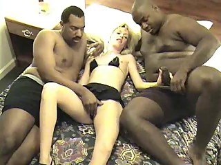 Holly takes 2 BBC black cock cuckold