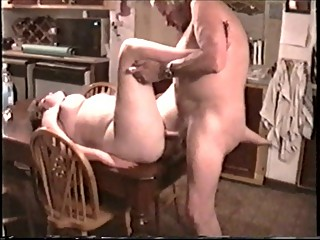 Mate fucking my wife on kitchen table