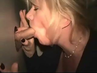 Amateur wife at glory hole.  Nancy?????