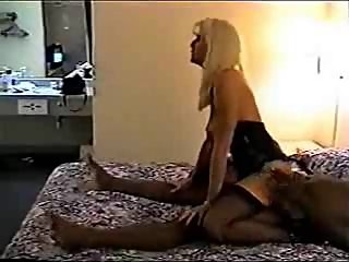 Long-legged MIF in stockings gets a rough black fuck
